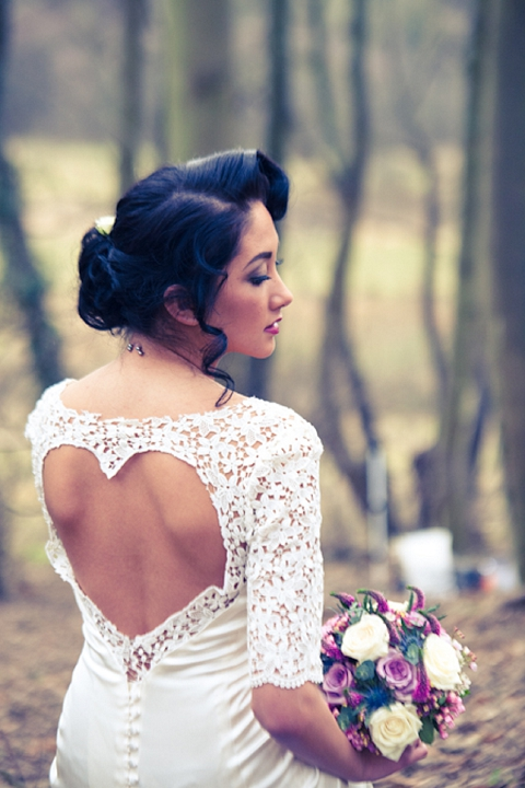 wedding dress with heart on back