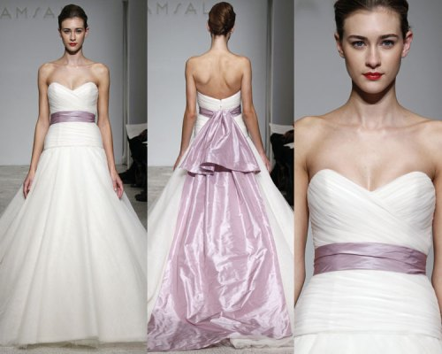 wedding dresses with lilac