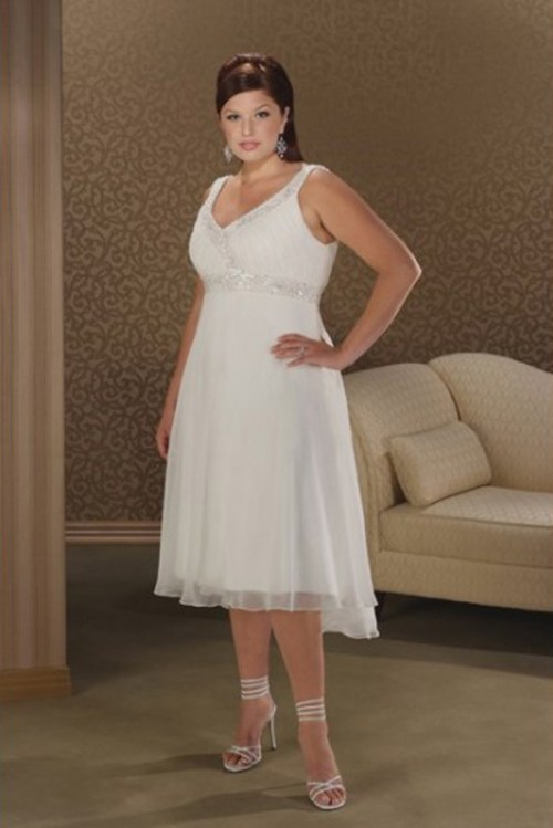 White Plus Size Wedding Dresses Under $100 : Elegant plus size short wedding dresses under sang
