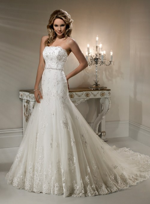 wedding dress styled with lace