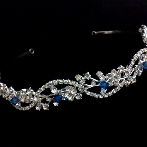 blue bridal tiara