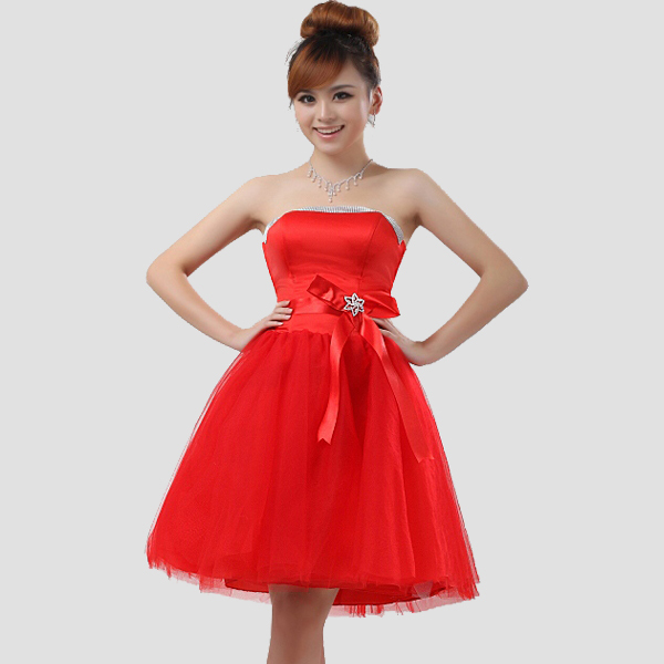 short red wedding dresses