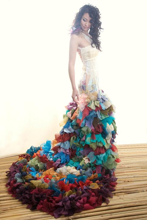 unusual colored wedding dresses