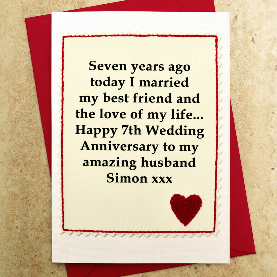 wedding anniversary card for wife from notonthehighstreet