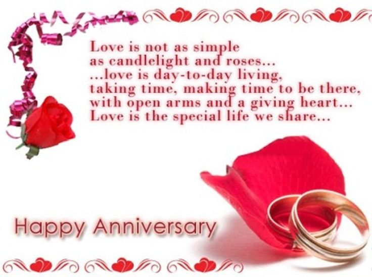 wedding anniversary card for wife with cute words