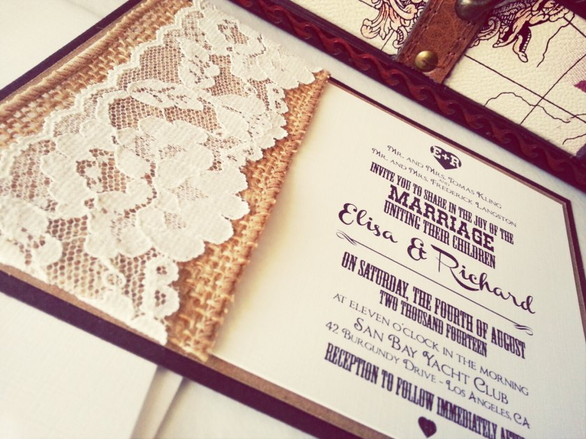 1500 1125 In Beautiful Burlap And Lace Wedding Invitations