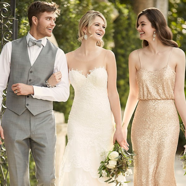 glitter gold bridesmaid dress
