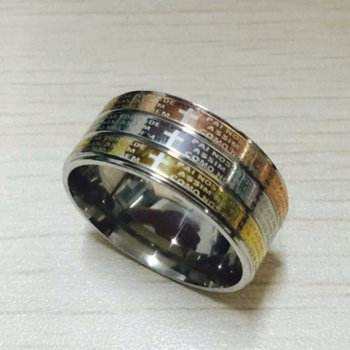 12mm titanium white rose yellow gold men's wedding band
