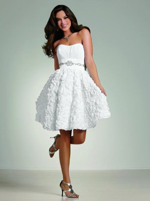 short white country wedding dresses