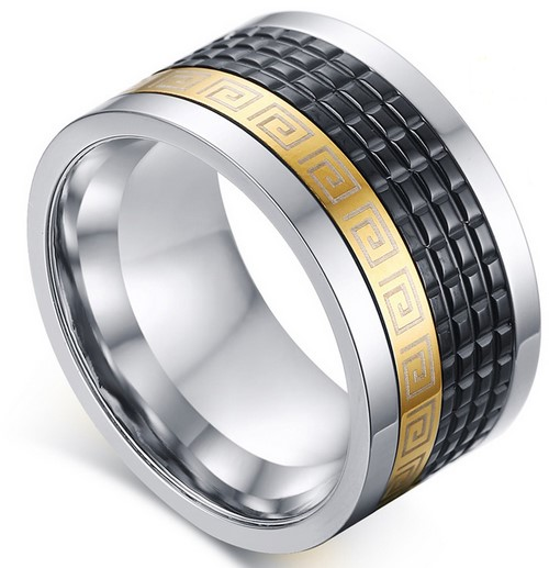 men's spinner wedding band