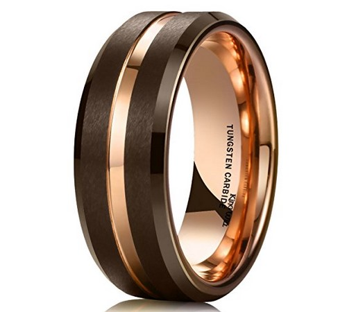 mens gold wedding bands under $100