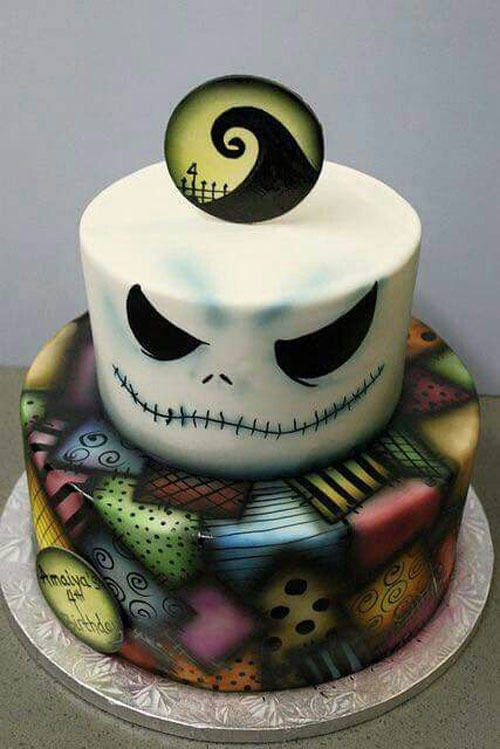 jack and sally cake topper baby shower