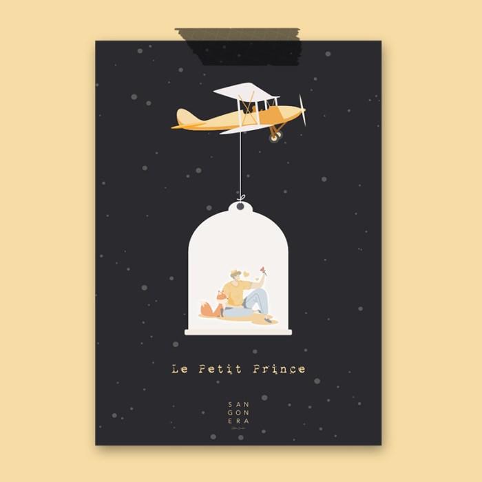 El principito, avión, Ilustración, Sangonera Design