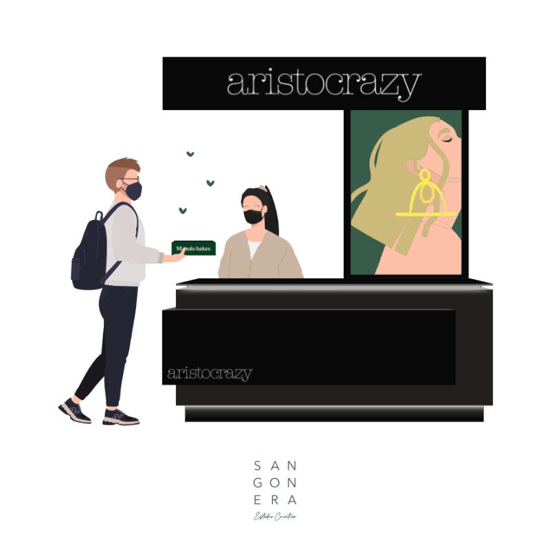 Aristocrazy pareja Ilustración Personalizada Digital, Sangonera Design