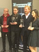(de gauche à droite) Laurent Scalèse, Sonja Delzongle, RJ Ellory, Johana Gustawsson