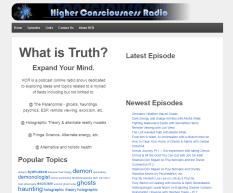 A simple podcast website with hooks to Itunes and various other RSS outlets.
