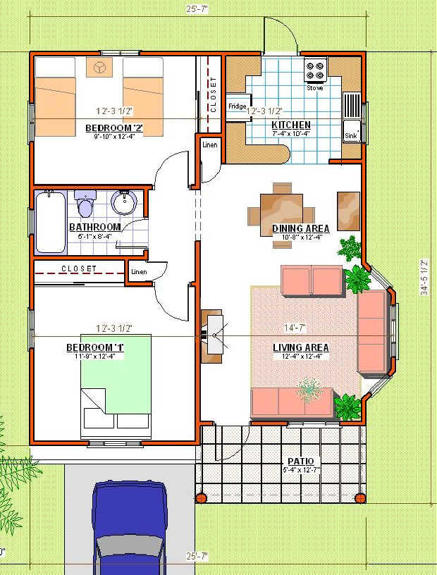 How much to build a two bedroom house in jamaica for Local house plans
