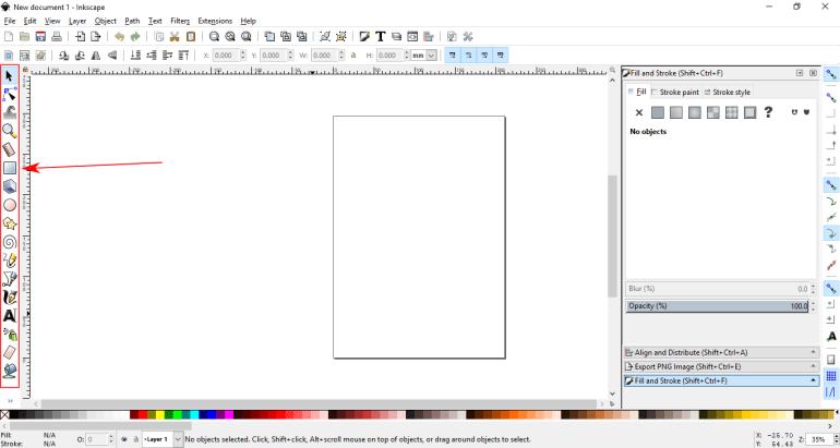 Menampilkan Tombol/Toolbox yang Hilang di Inkscape |