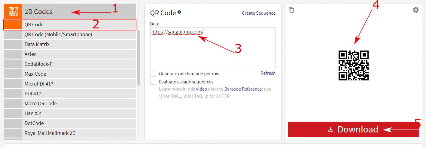 membuat barcode QR Code