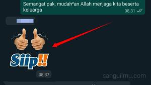 Cara Menyimpan Gambar Stiker di WhatsApp |