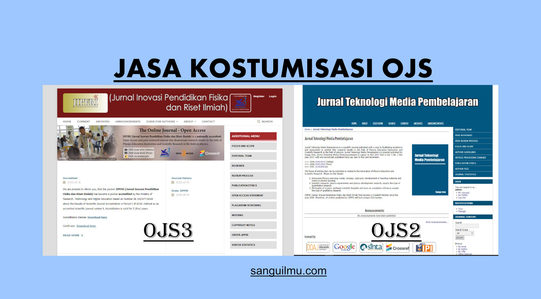 Jasa Kustomisasi Open Journal System (OJS) |