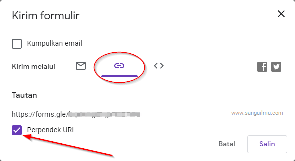 Cara Memendekkan Link Google Formulir