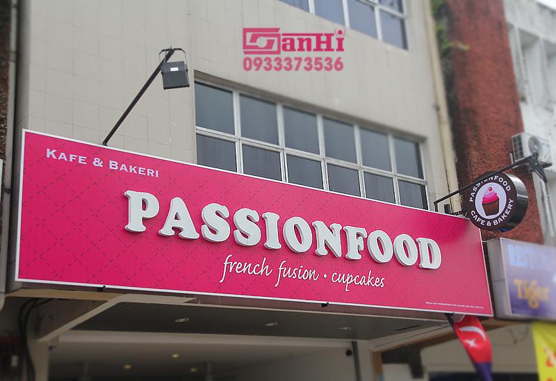 Bảng hiệu hộp đèn passionfood