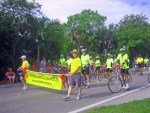 Sanibel Bicycle Club marching in the July 4, 2012 parade