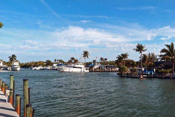 From Mariner Pointe looking toward the Sanibel Marina 01-31-2013