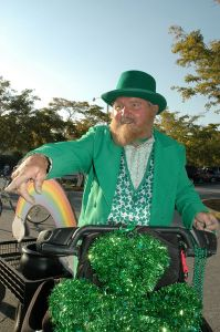 Billy Kirkland from Billy's Bikes & Rentals is often dressed for the occasion