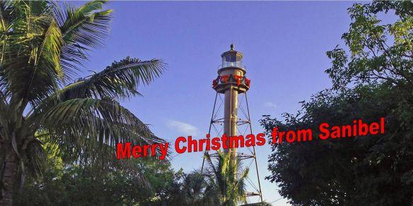 Sanibel Lighthouse Merry Christmas