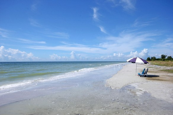 Beach in front of Sanibel Arms West