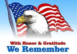 Memorial Day Eagle Flag