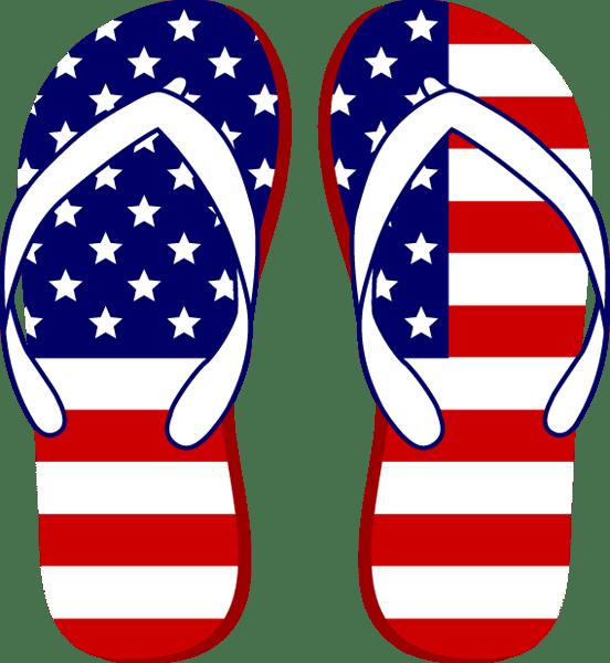 july 4th flip flops
