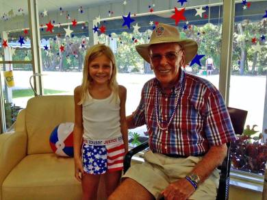 Payton & her granddad