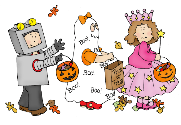 Dearie Trick or Treaters-color