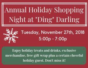 Ding Darling holiday shopping 2018