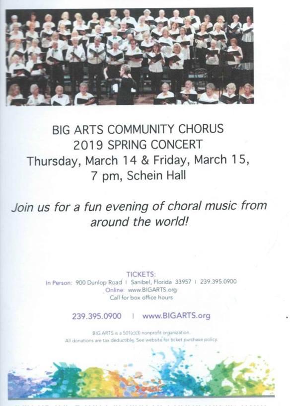 Big arts 2019 spring poster