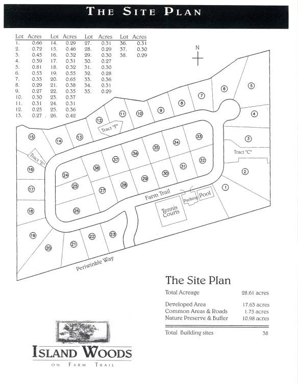 Developer Island Woods Site Plan