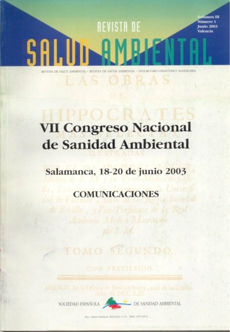 VII Congreso Nacional de Sanidad Ambiental