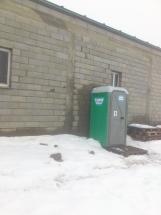 sanitario en Penouta. Nieve