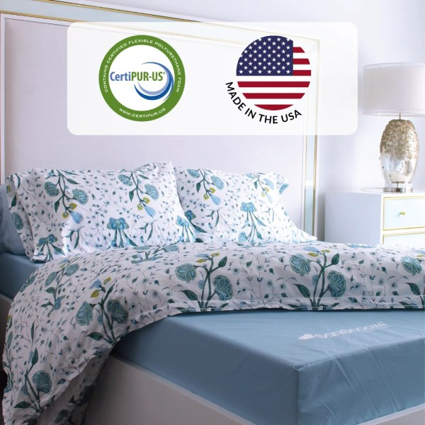 SaniSnooze mattresses are certipur-us certified and made in the U.S.A