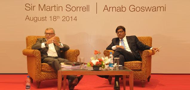 IAA CONVERSATIONS SIRE MARTIN SORRELL and ARNAB GOSWAMI. PIC- Mxmindia.com