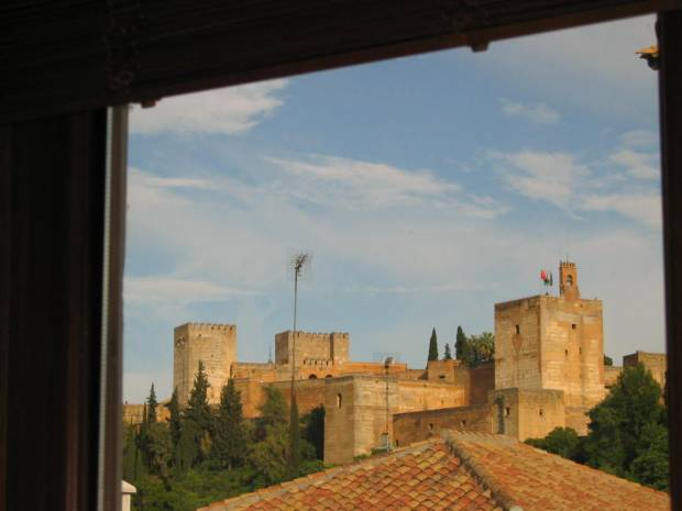 view of Alhambra from double bedroom