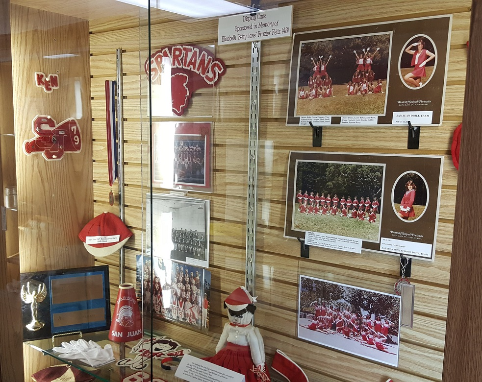 San Juan High School Legacy Room Cheer Display