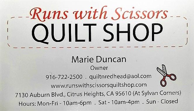 Runs with Scissors Quilt Shop in Citrus Heights