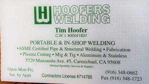 Tim Hoofer Welding