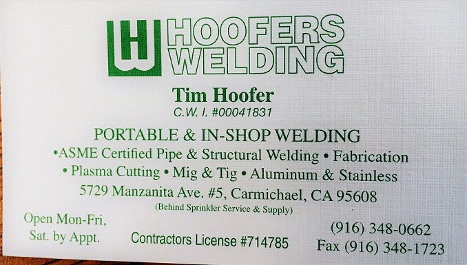 Tim Hoofer - Welding