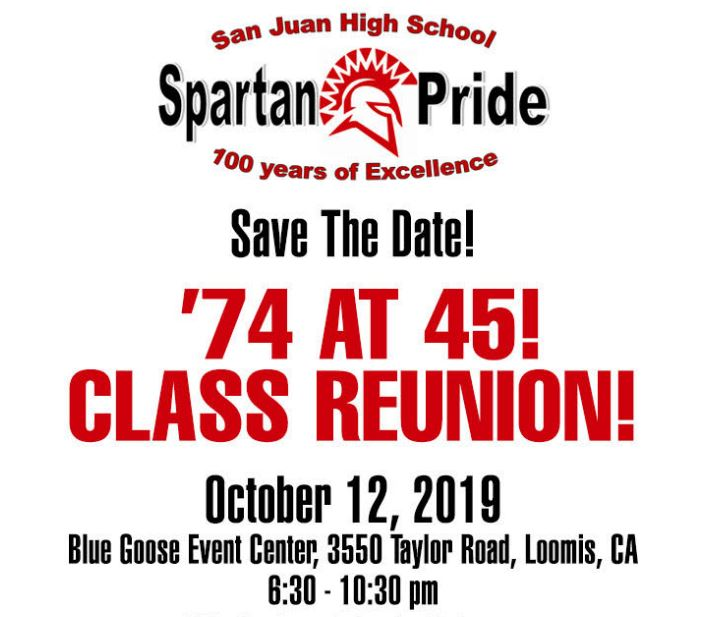 SJAA Class of 1974 Reunion