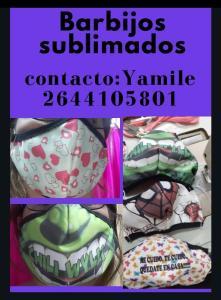 Barbijos sublimados | Yamile